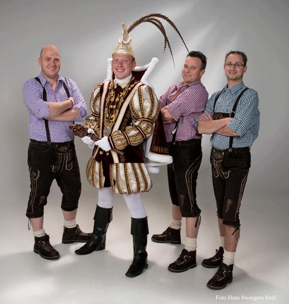 ZDH Prins TIm I en adjudanten Marco, Ties en Martijn